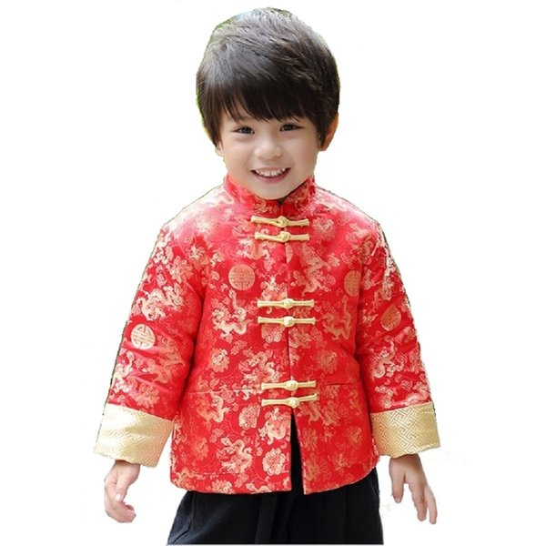 China Dress Children Tang Coat Baby Boys Clothes Dragon Party Costumes Boy Jackets Festival Garment Gown Kids Outfits Outerwear