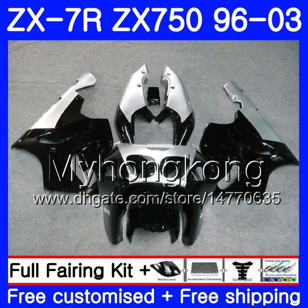 BLACK /& ORANGE CUSTOM FITS KAWASAKI NINJA ZX7R ZX 7 R 750 96-03 SEAT COVER