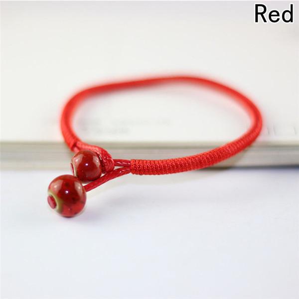 Women Lucky Bracelets Bead Red String Ceramic bracelets & bangles Men Handmade Accessories Lovers Lucky Jewelry Freeshipping
