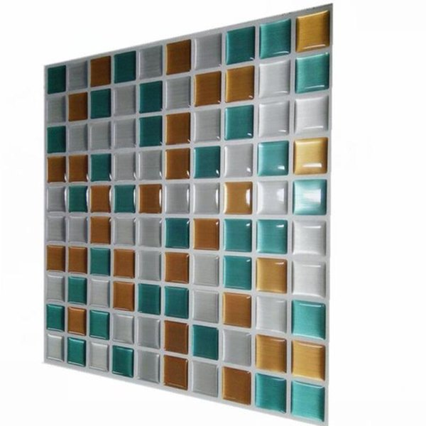 Wholesale-Wootile Peel and stick mosaic wall tile vinyl Adhesive tiles Environment Friendly and Water Resistant wall kitchen tile