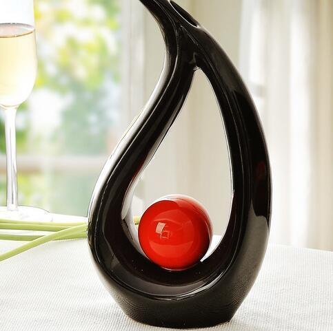 керамическая черная ваза для цветов конструкции домашнего декора ремесла номер свадебные украшения ремесло фигурка сад орнамент фарфоровая статуя