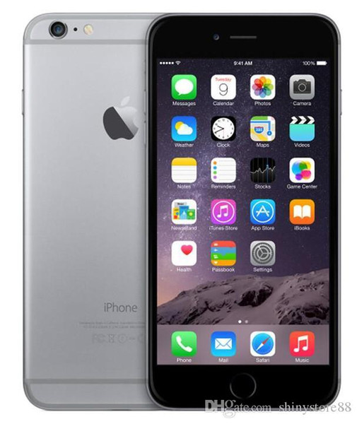 Original apple iphone 6 plus sem impressão digital 5.5 polegadas ios 11 16 gb / 64 gb / 128 gb telefones desbloqueados recondicionado