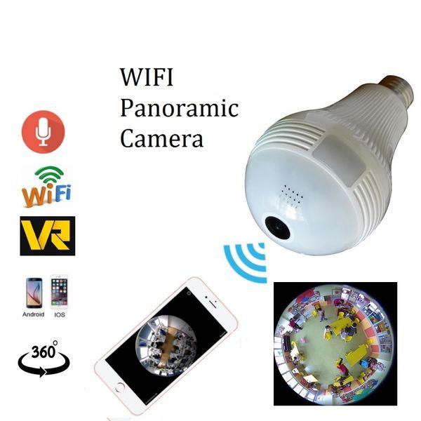 Wireless WIFI Bulb Light IP Camera HD 960P 360 Degree FishEye VR Panoramic Camera Bulb Light Home Security Surveillance CCTV camera
