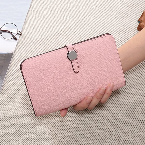 Bestbaoli 100% Genuine Leather Womens Wallets And Purses Fashion Designer Handbags High Quality Wallet Long Coin Girls Money Bag