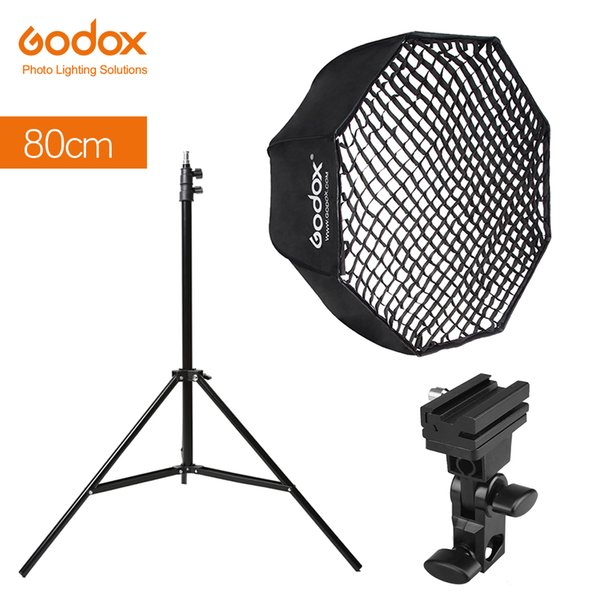 "eflector sticker Godox Portable 80cm 32"" Octagon Umbrella Softbox with Honeycomb Grid,Light Stand,Hot Shoe Holder Bracket for Flash Speed..."
