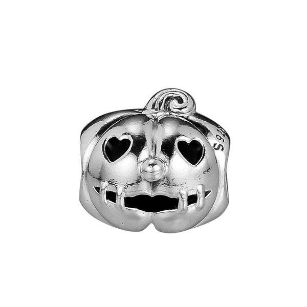 2018 Autumn 925 Sterling Silver Jewelry Sweet Pumpkin Charm Beads Fits Bracelets Necklace For Women Jewelry Making