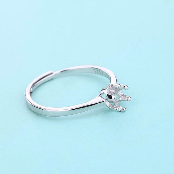 ENGAGEMENT FINE RING CHOOSE ANY SIZE ROUND 5mm 925 STERLING SILVER SEMI MOUNT