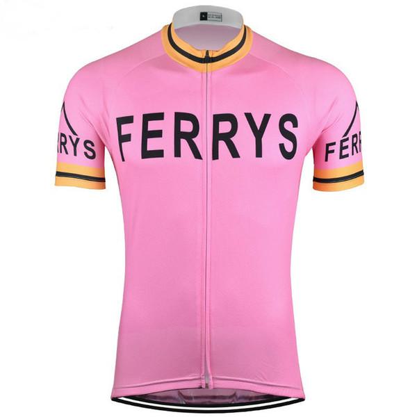 2019 pro equipe Ferrys rosa verão mens Ciclismo jerseys roupas de bicicleta respirável MTB Ropa ciclismo Bicicleta maillot só