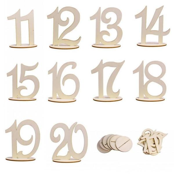 Neue Kreative Holz Dekoration Carving Abbildung Digitale Sitzkarte Für Western Restaurant Hochzeit Tisch Anzahl Ort Halter 10jm aa
