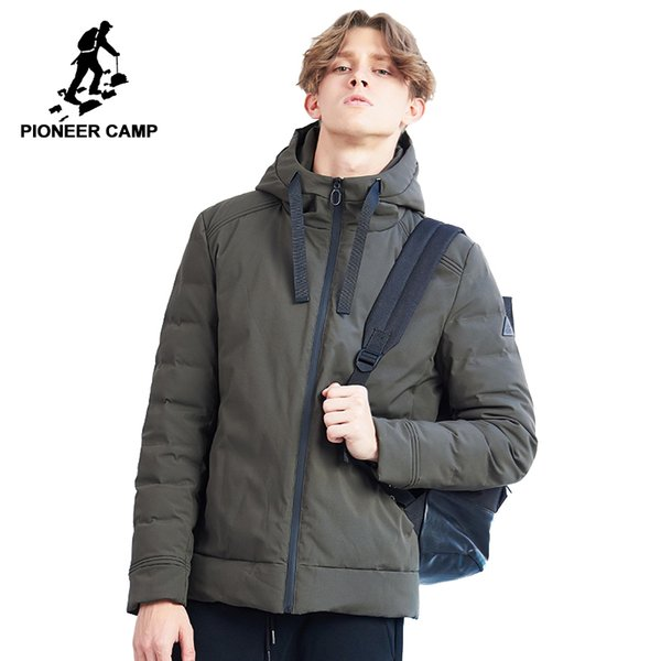 2019 Pioneer Camp New Winter Parka Men Brand Clothing Casual Solid Jacket Coat Hooded Thick Parkas Male Quality Short Style AMF801452 From Meizuang,