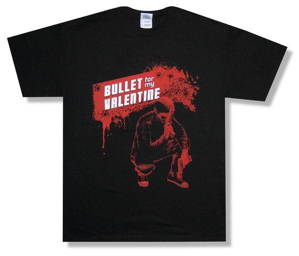 Bullet For My Valentine Red Gun Shot Splatter Black T Shirt New Official colour jurney Print t shirt