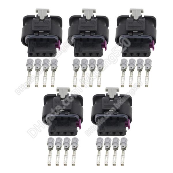 5 juegos 4 pines hembra conector del coche conector automotriz conector enchufe DJ7042-1.2-21, 1-1456426-5, 4H0 973 704