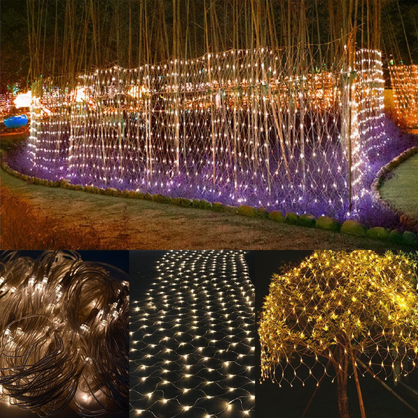 led strings 200 led 2m 3m net light net mesh fairy lights twinkle lighting christmas wedding