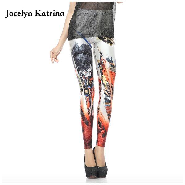 Jocelyn Katrina Spring and summer Europe and the United States women's elastic Slim digital printing leggings gym yoga pants