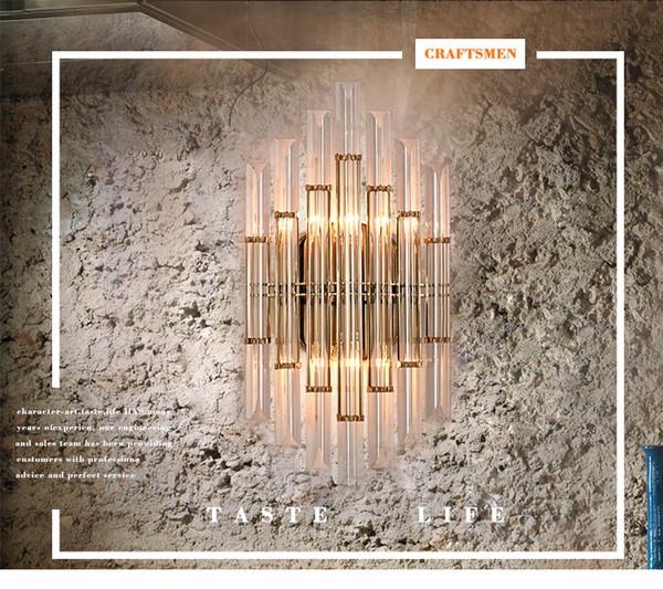 Regron Novità Creative Europe style Splendida Lampada da parete in cristallo Lampada da parete a Led Comodino applique da parete Camera da letto Aisle Villa Hotel Livingroom
