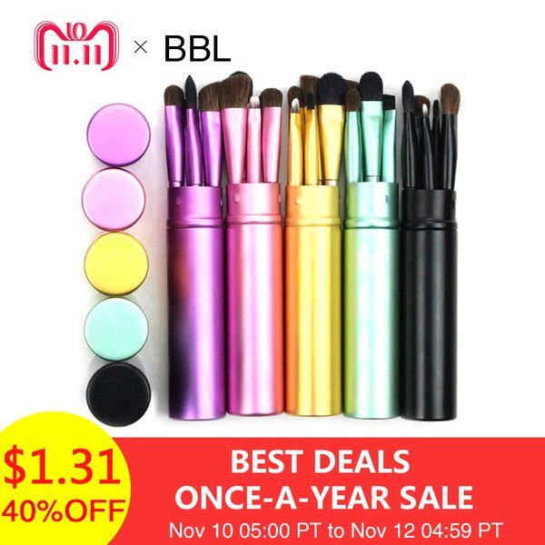 BBL 5pcs Travel Portable Mini Eye Makeup Brushes Set Reals Eyeshadow Eyeliner Eyebrow Brush Lip Make Up Brushes kit Professional D18110902