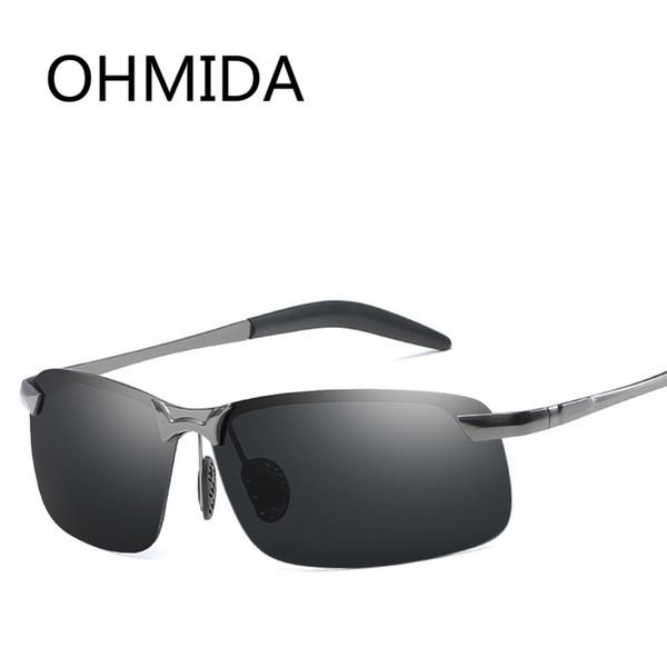 OHMIDA New Pilot Men's Sunglasses Polarized Eyeglasses Driving Fishing Outdoor Sports Sunglasees Avaitor Mirror Sun Glasses Male