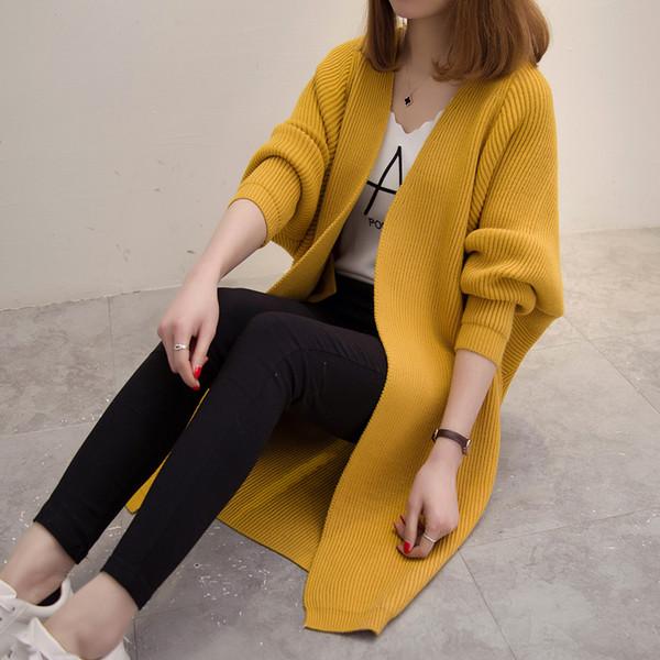 3xl plus big size sweater women spring autumn winter 2017 feminina outfit new loose knit cardigan sweater coat female A4489