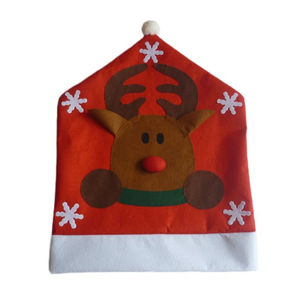 1PC Lovely Santa Claus/ Snowman/ Elk Deer Christmas Dining Room Chair Seat Back Cover Home Party Decor Xmas Table Accessory