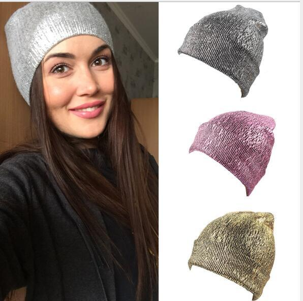 man and women hat wool knitting bronzing pure color hat Fashion European and American men's hat for warmth and ear protection