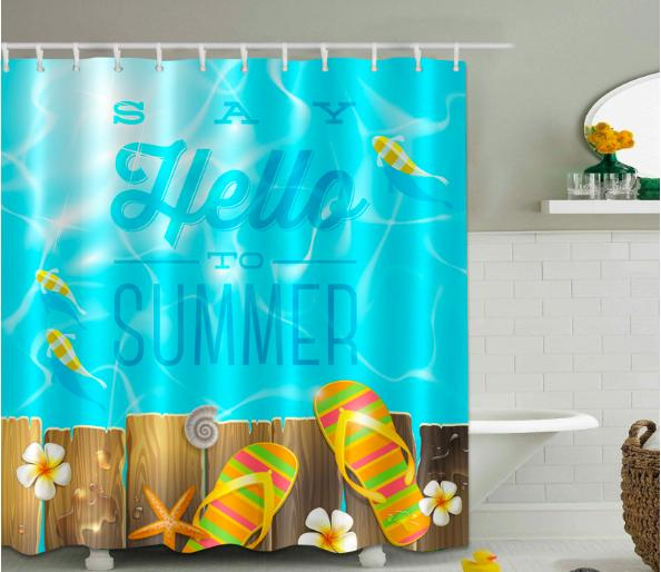 Textil Duschvorhang Sea Star Strand 180x200 cm