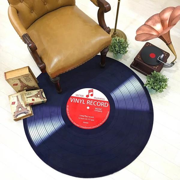 Vinyl Record Rugs Floor Door Carpet Mats Round Dark Blue Record Carpet Area Rugs For Kids Room Mohawk Carpet Prices Gulistan Carpet From Saintlotus