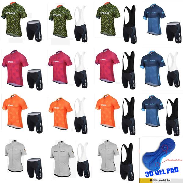 NOVITÀ Strava Cycling jerseys Uomo short style bike Abbigliamento Set Pro Team Estate Bicicletta Suit sportivo mtb Racing Riding abbigliamento 18 stili C1904