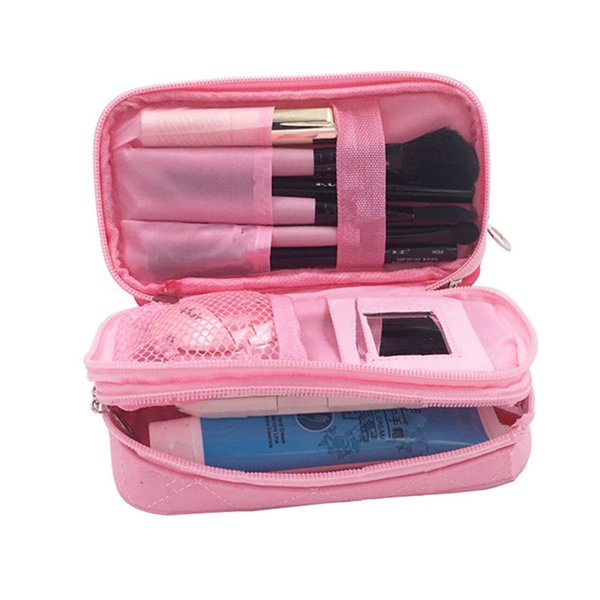 Women's Mini Cosmetic Bag Travel Organizer Makeup Pouch Cases Beauty Necessaire Brushes Lipstick Toiletry Accessories Supply