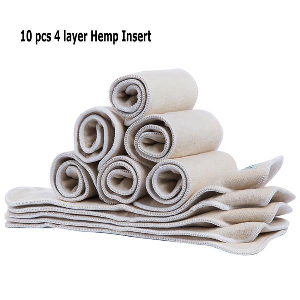 10 piezas de algodón insertables reutilizables de un tamaño en forma de todo el pañal de bebé inserta algodón orgánico
