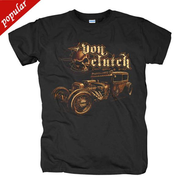 Klassieke Ras auto schedel Ontwerp snelweg naar hel t-shirts Cool Tops Korte Mouwen T-shirts Hipster