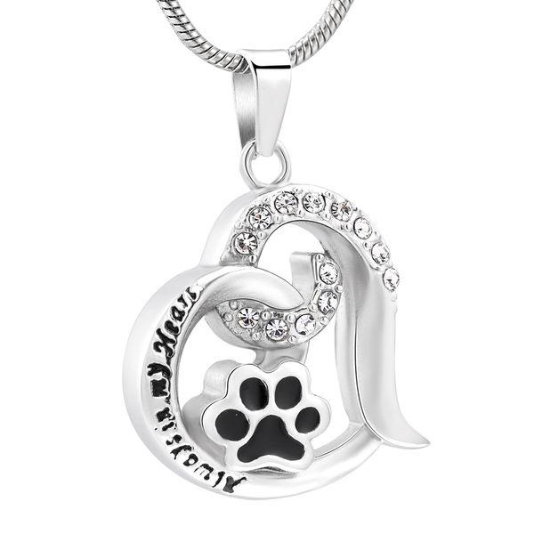 DJX10031 собака / кошка Лапа печати кремации ювелирные изделия для домашних животных