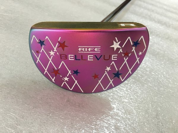 TOP quality golf clubs plum BELLEVUE golf putter with headcover and shaft golf clubs free shipping