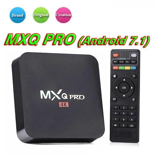 Fábrica MXQ Pro Android 7.1 Caixa de TV RK3229 Set Top Box 4 K Ultra HD Quad-core Suporte Media Player Streaming WiFi HDMI2.0