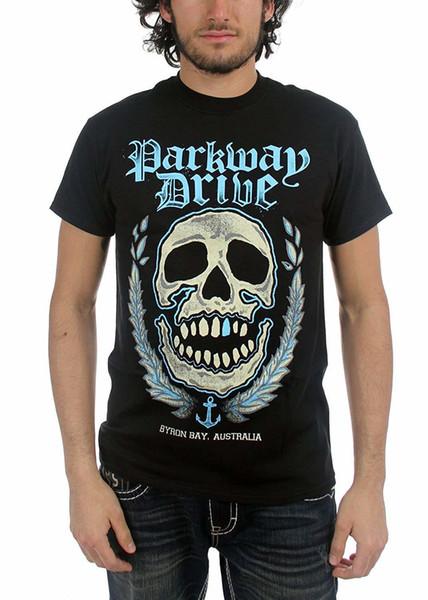 Parkway Drive - T-shirt crâne pour hommes Byron Bay 3D Hommes chauds pas cher T-shirt à manches courtes pour hommes