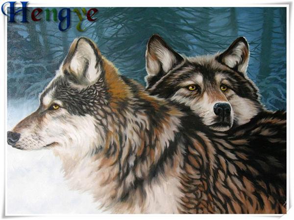 Fai da te diamante pittura a punto croce kit di strass mosaico home decor regalo animale lupo pieno roundsquare diamante ricamo 5D yx2918