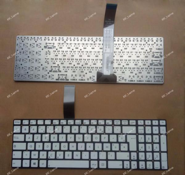Nouveau clavier français pour ASUS R500A R500VD R500VD R500VJ R500VM R500VS R700A R700VD R700VJ R700VM ordinateur portable argent, sans cadre