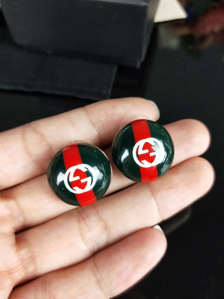 New Arrival Red Green Luxury Earrings Brand Designer Stud Earrings & Stamps Famous Brand Jewelry Gifts For Love Fast Transportation S002