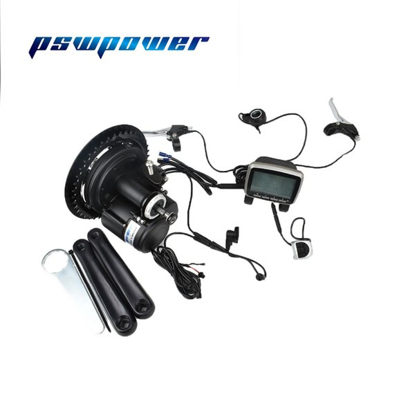 Free shipping 48V 500W or 750W 42T VLCD5 TSDZ2 electric bicycle mid motor with with torque sensor throttle e-brake lever