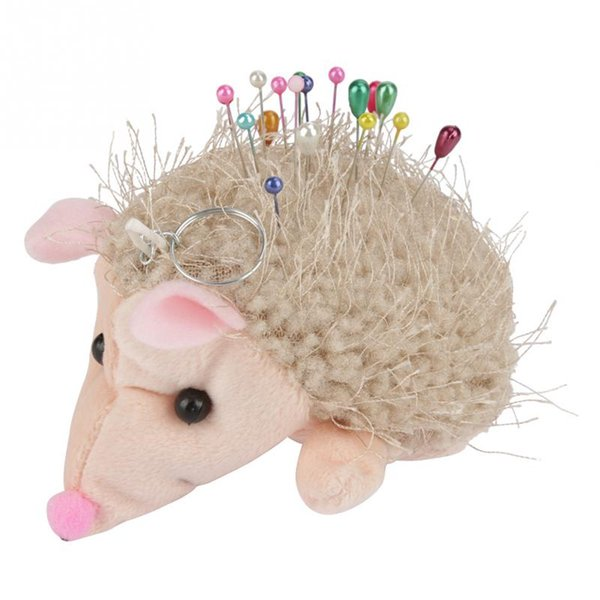 1 Pc Sewing Needle Cushion Hedgehog Shaped Pin Cushion Craft Contain Round Pearl Head Dressmaking Pins