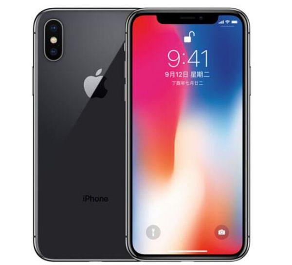 Orijinal Unlocked Apple iPhone X iphoneX 4G LTE Cep telefonu 5.8 '' 12.0MP 3G RAM 64G / 256G ROM Yüz KIMLIK Cep Telefonu