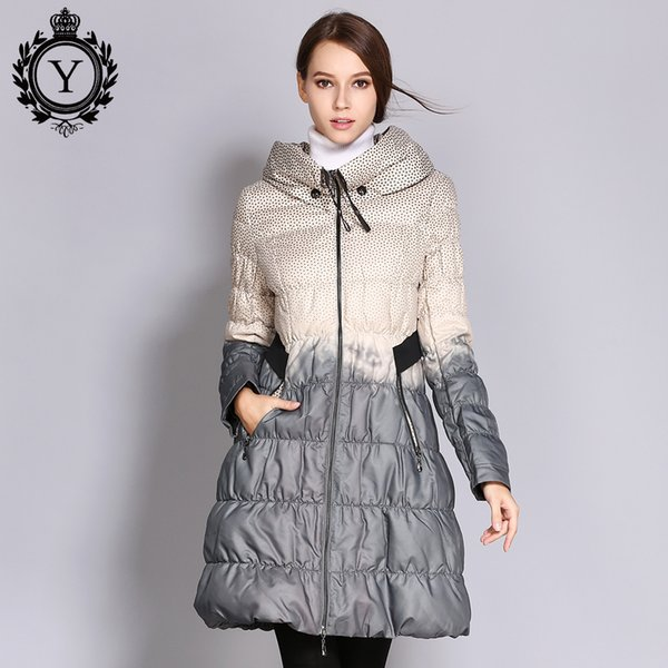2019 COUTUDI 2017 Winter Plus Size Down Coat Women Parkas Female Long Duck Down Padded Jacket Hit Color High Quality Women's Clothing