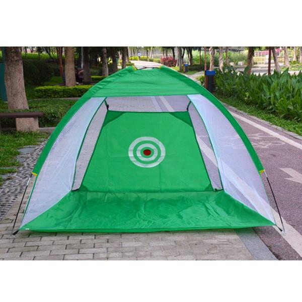 Indoor / Outdoor Golf Training Aids Portatile pieghevole Golf Hitting Gabbia Giardino prati Rete pratica