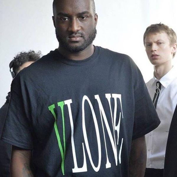 VLONE POP UP 18ss Tee Green Logo Printed Men Women Summer Breathable Cool Short Sleeves Casual Street Skateboard T Shirts HFYMTX219