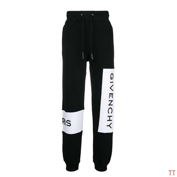 Mens moda Calças Designer Marca Calças de Jogger Calças Casuais Calças de Lã de Qualidade Superior Lado Carta Com Cordão Homens Calças De Marca Esporte Suor