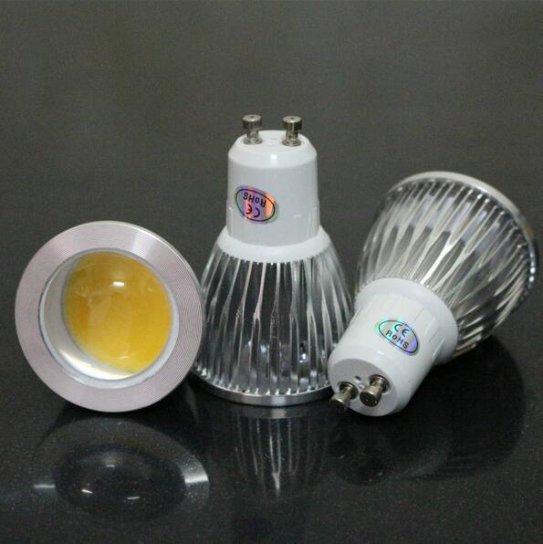 220V 110V Bombilla LED de mejor calidad COB GU10 3W 5W 7W Lámpara Regulable Blanco cálido Foco Ahorro de energía Bombillas CE RoHS