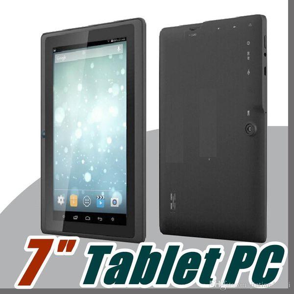 "20X DHL 2017 7 inch Android4.4 Google 3000mAh Battery Tablet PC WiFi Quad Core 1.5GHz 512MB 8GB Q88 Allwinner A33 7"" Dual Camera A-7PB"