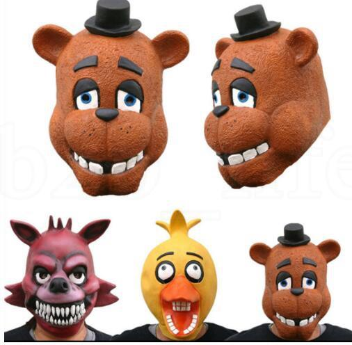 3 projeto Cinco Noites Na Máscara de Freddy Foxy Freddy Fazbear Urso Máscara Para As Crianças Presente Partido Cosplay Máscara de Horror Rosto Cheio KKA6243