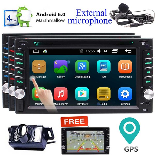 EinCar 6.2'' Android 6.0 Marshmallow Car Stereo 2 Din In Dash GPS Navigation Radio Receiver Touchscreen Vehicle car DVD Player Bluetooth