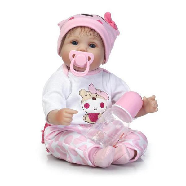 NPK Lovely Simulation Baby Toy High Grade Silicona Suave Realista Cuerpo Completo Muñeca Recién Nacida Parenting Inafant Doll Toy
