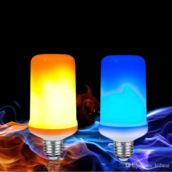 E27 LED Flackernde Flamme Glühbirnen Retro Dekor Flamme Effekt Glühbirne Blau